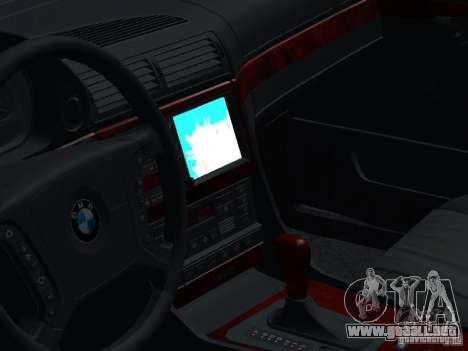 BMW 740I E38 (RUS) para vista lateral GTA San Andreas