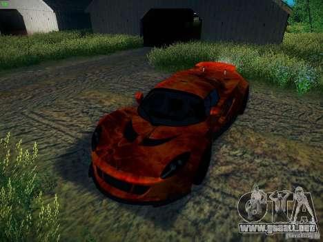 Hennessey Venom GT Spyder para vista inferior GTA San Andreas