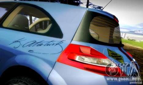 Renault Megane Coupe 2008 TR para GTA San Andreas vista hacia atrás