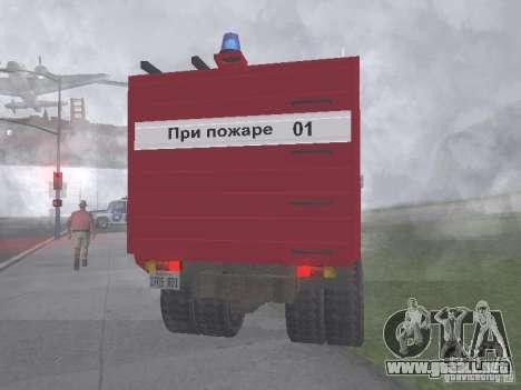 GAZ 3309 fuego para GTA San Andreas vista posterior izquierda
