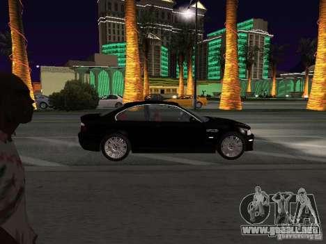 BMW M3 GT-R Stock para GTA San Andreas vista hacia atrás