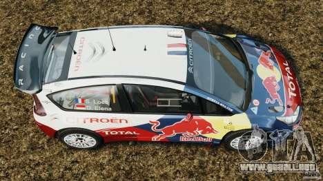 Citroen C4 WRC para GTA 4 visión correcta