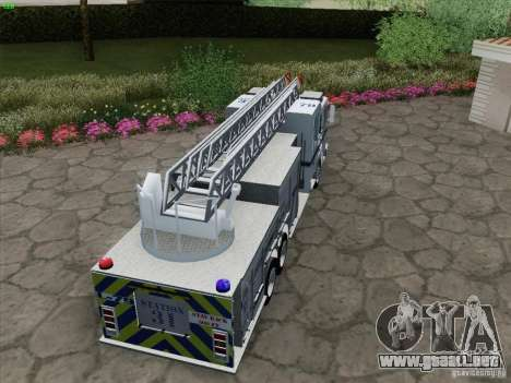 Pierce Puc Aerials. Bone County Fire & Ladder 79 para visión interna GTA San Andreas