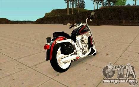 Harley Davidson FatBoy (Terminator 2) para GTA San Andreas vista posterior izquierda