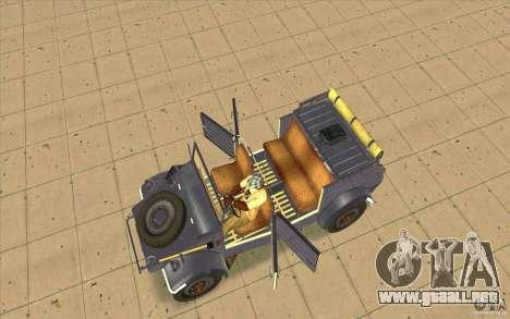 Kuebelwagen v2.0 normal para la visión correcta GTA San Andreas