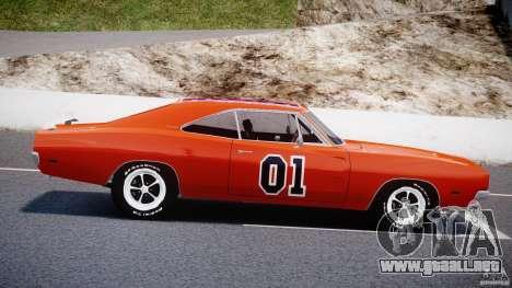 Dodge Charger General Lee 1969 para GTA 4 left