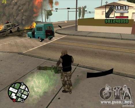 Ametralladora de Call of Duty Black Ops para GTA San Andreas segunda pantalla