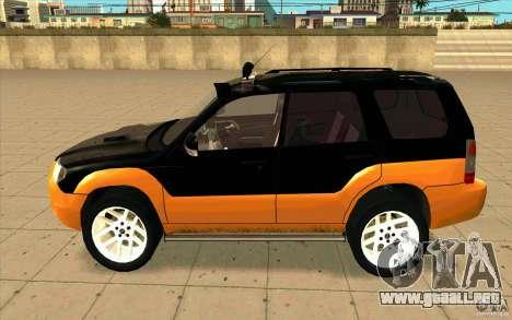 Subaru Forester Cross Sport 2005 para GTA San Andreas left