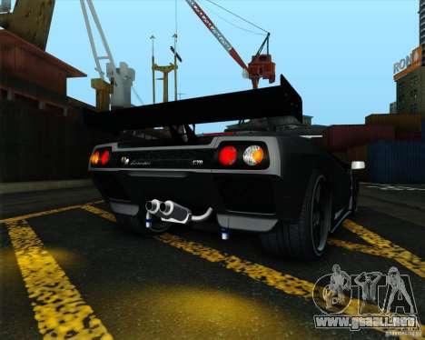 Lamborghini Diablo GTR V1.0 1999 para la visión correcta GTA San Andreas