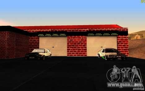 Nuevo garaje de Dorothy para GTA San Andreas segunda pantalla