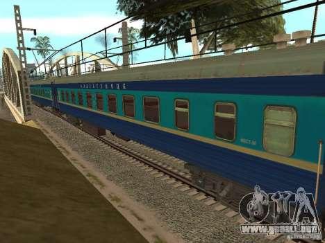 Modificación del ferrocarril III para GTA San Andreas octavo de pantalla