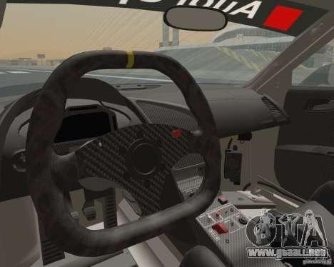 Audi R8 LMS v2.0.1 para GTA San Andreas vista hacia atrás