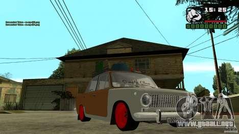 Lada 2101 OnlyDropped para GTA San Andreas vista hacia atrás