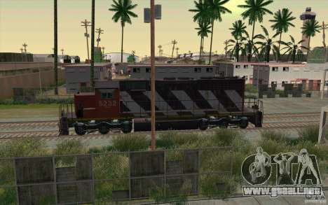 CN SD40 ZEBRA STRIPES para vista inferior GTA San Andreas