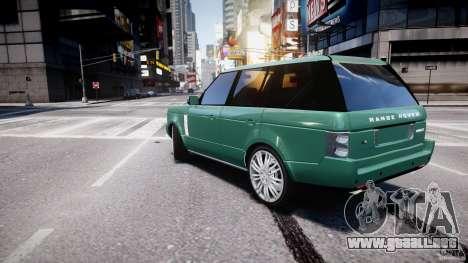 Range Rover Vogue para GTA 4 Vista posterior izquierda