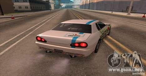 Paintjob for Elegy para GTA San Andreas vista posterior izquierda