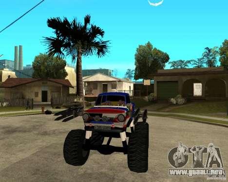MONSTRUO ZAZ para GTA San Andreas vista hacia atrás
