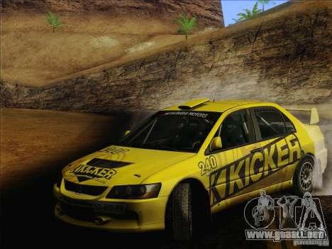 Mitsubishi Lancer Evolution IX Rally para las ruedas de GTA San Andreas