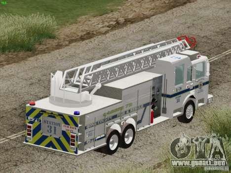 Pierce Puc Aerials. Bone County Fire & Ladder 79 para las ruedas de GTA San Andreas