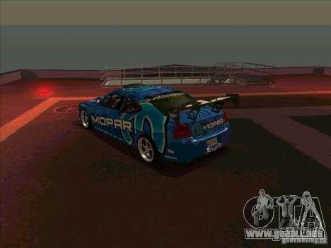 Mopar Dodge Charger para GTA San Andreas vista posterior izquierda