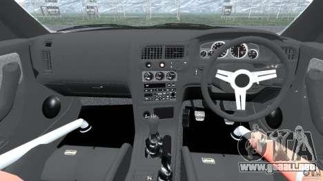 Nissan Skyline GT-R (R33) v1.0 para GTA 4 vista hacia atrás