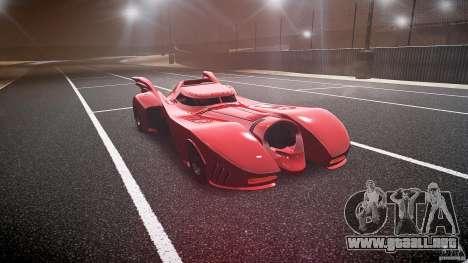 Batmobile Final para GTA 4 vista hacia atrás