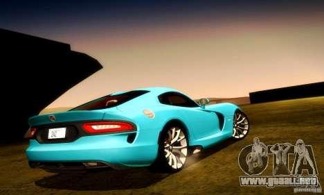 Dodge Viper SRT  GTS para las ruedas de GTA San Andreas