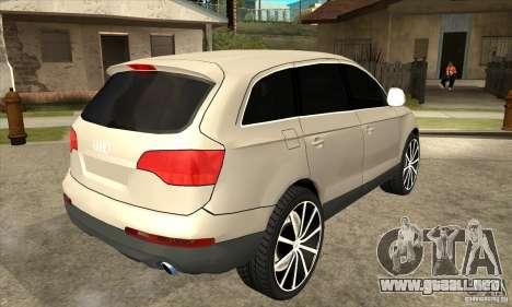 Audi Q7 v2.0 para la visión correcta GTA San Andreas
