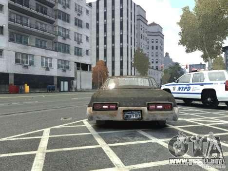 Dodge Monaco 1974 Rusty para GTA 4 Vista posterior izquierda