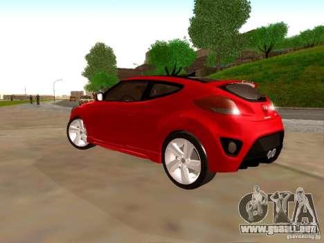 Hyundai Veloster Turbo v1.0 para GTA San Andreas vista hacia atrás