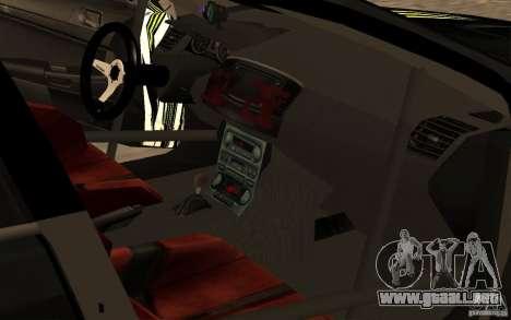Mitsubishi Lancer Evolution X Monster Energy para GTA San Andreas vista hacia atrás