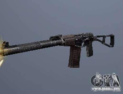 Un conjunto de armas de acosador V2 para GTA San Andreas sucesivamente de pantalla