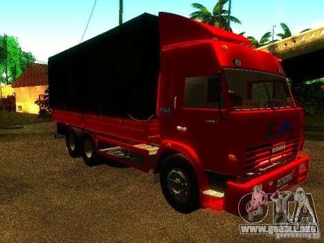 KAMAZ 53215 para la visión correcta GTA San Andreas