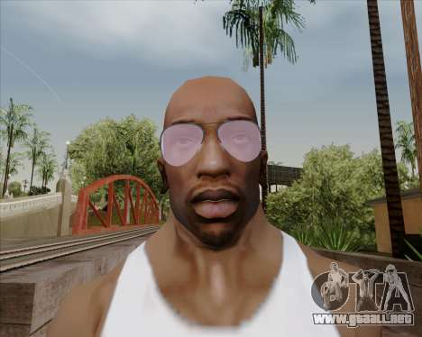 Rosa gafas de aviador para GTA San Andreas