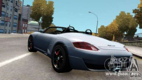 RUF RK Spyder 2006 [EPM] para GTA 4 vista hacia atrás