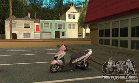 Honda Vario-Velg Racing para GTA San Andreas vista hacia atrás