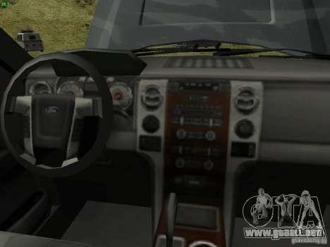Ford F-150 Off Road para la visión correcta GTA San Andreas