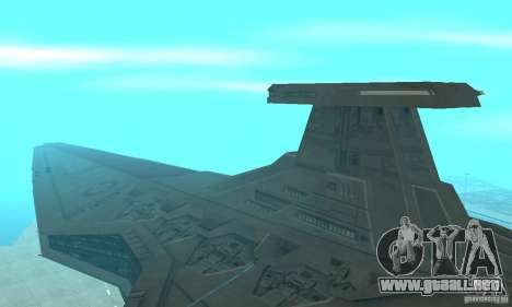 Republic Attack Cruiser Venator class v2 para GTA San Andreas left