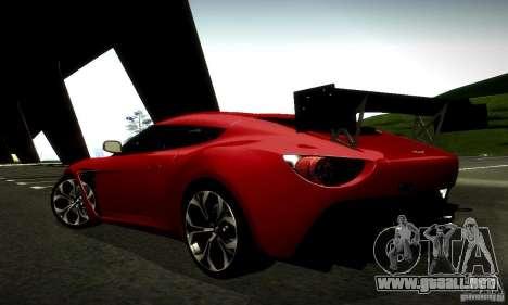 Aston Martin V12 Zagato Final para la vista superior GTA San Andreas