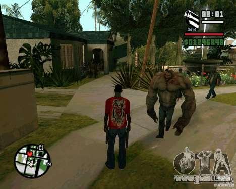 Tanque del Left 4 Dead. para GTA San Andreas sucesivamente de pantalla