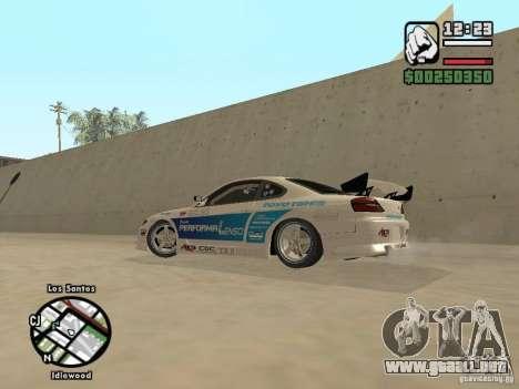 Nissan Silvia S15 Drift para GTA San Andreas left