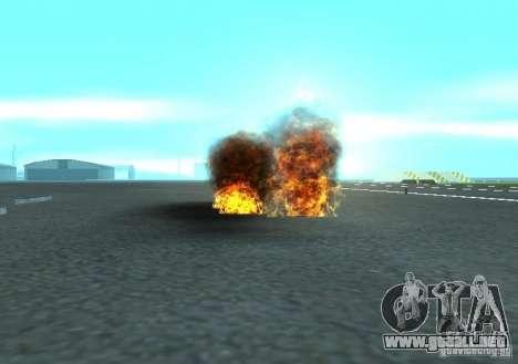 Nuevos efectos de explosiones para GTA San Andreas quinta pantalla