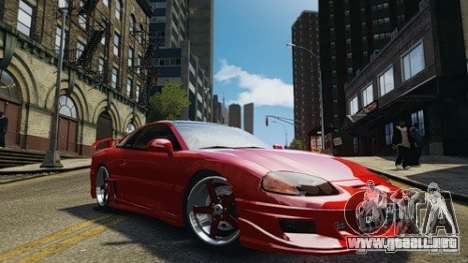 Dodge Stealth Turbo RT 1996 para GTA 4 Vista posterior izquierda