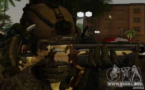 Tavor Tar-21 Camodesert para GTA San Andreas tercera pantalla