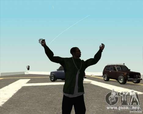 Animación diferente para GTA San Andreas tercera pantalla