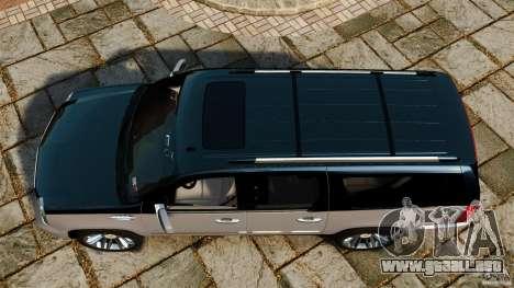 Cadillac Escalade ESV 2012 para GTA 4 visión correcta