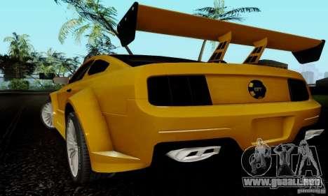 Ford Mustang GT para visión interna GTA San Andreas