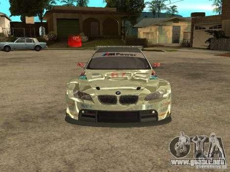 BMW M3 GT2 para visión interna GTA San Andreas