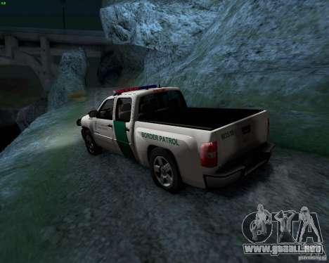 Chevrolet Silverado Police para GTA San Andreas vista hacia atrás
