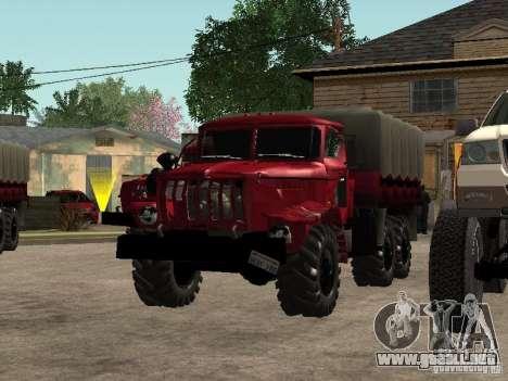 Ural-4320 para visión interna GTA San Andreas